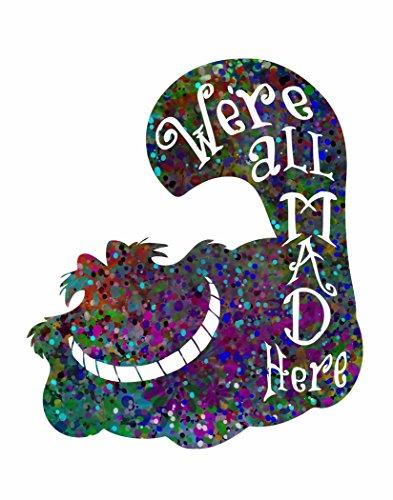 ArtDash Pop Art Print: Watercolor Splatter CHESHIRE CAT We're All Mad Here (11
