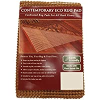 NaturalAreaRugs Contemporary Eco Hold Rug Pad Earth Friendly Provides Extra Cushion For All Hard Surfaces of size 2' x 8'. Heavier and Thicker than Most Rug Pads