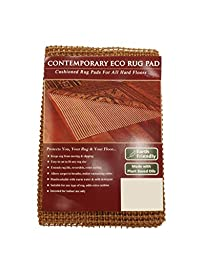 NaturalAreaRug Contemporary Eco Hold Rug Pad Earth Friendly Provides Extra Cushion For All Hard Surfaces of size 9\' x 12\'. Heavier and Thicker than Most Rug Pads