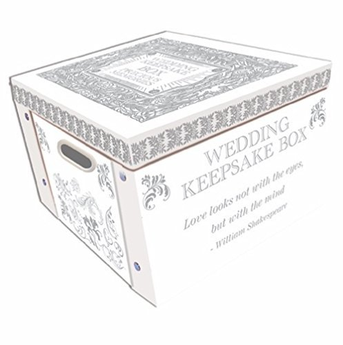 White Wedding Keepsake Box A Lifetime Of Memories Large Collapsible Storage Box