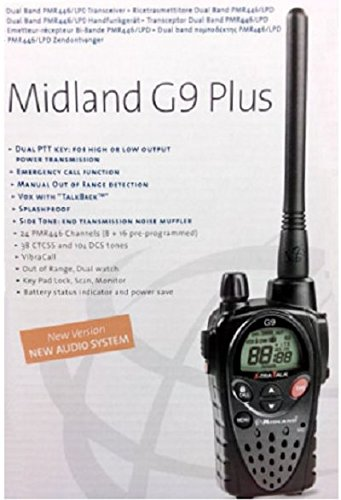 midland g9 plus  Midland G9 Plus PMR446 / LPD VERSIONE EXPORT 5W: : Elettronica