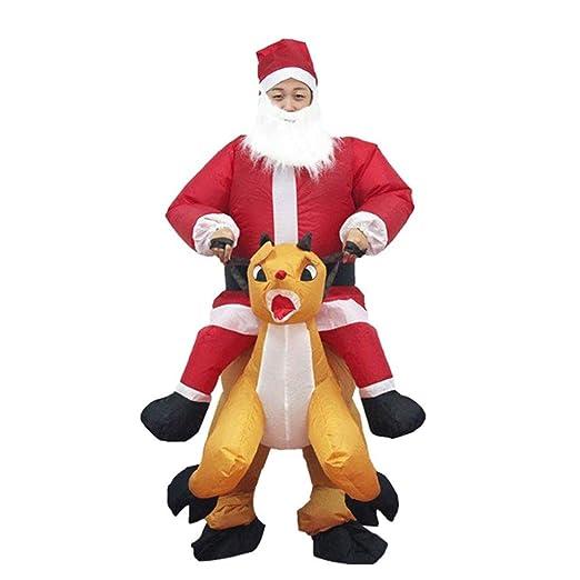 Eamqrkt Navidad Traje Inflable Navidad Santa Claus Mono ...