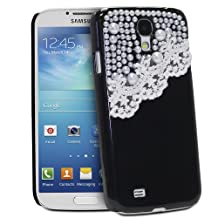 Fosmon GEM Series 3D Bling Lace Design Case for Samsung Galaxy S4 / S IV / GT-I9500 - Fosmon Retail Packaging (Black)