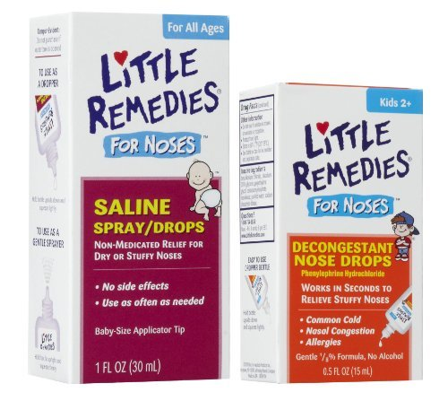 Little Remedies Saline Spray/Drops for Stuffy Noses with Decongestant Drops ()