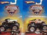 Hot Wheels Monster Jam Bad News Travels Fast & Dalmation Mutt 1/64