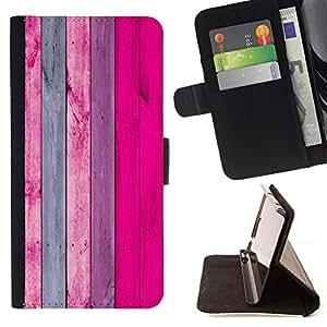 """For Samsung Galaxy S6 Active G890A,S-type Patrón de textura de madera gris del rosa"""" - Dibujo PU billetera de cuero Funda Case Caso de la piel de la bolsa protectora"""