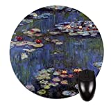 Artist Claude Monet's Water Lilies 27-Round Mousepad-Great Office Review and Comparison