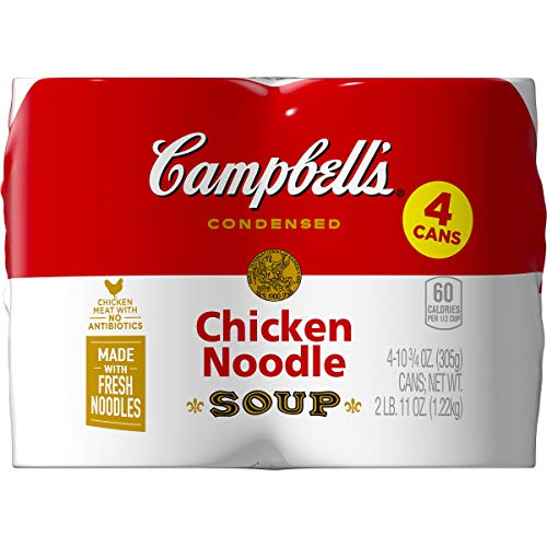 Campbell#039s Condensed Chicken Noodle Soup 1075 oz Can Pack of 4