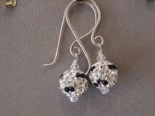 Sparkling Crystal Pave Earrings Bling Earrings Clear Crystal and Black Earrings Disco ball earrings Sparkling Pave Bracelet
