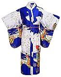 Kimono Palace Women's Japanese Traditional Pagoda Classy Silk Kimono Robe/Bathrobe/Party Robe Long With Bag