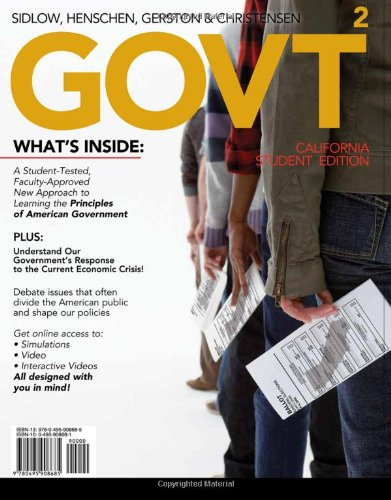 GOVT 2, California Edition (with Political Science CourseMate with eBook and InfoTrac 1-Semester Printed Access Card) (Available Titles CourseMate)