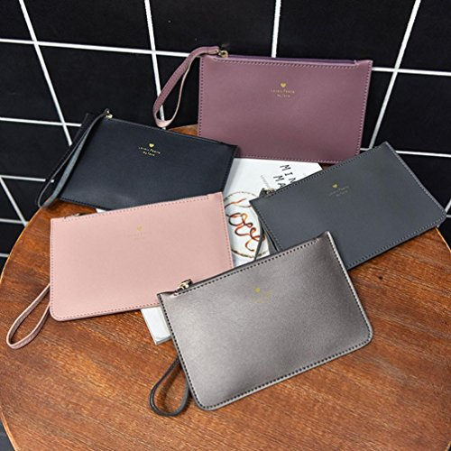 GINELO Bag Handbag Bags Women's Phone Messenger Fashion Coin wallet Bag Leather Gray wv7YqT