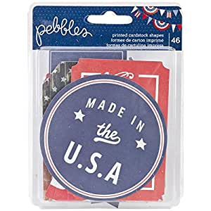 Pebbles 46-Piece Americana Printed Cardstock Shapes