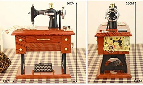 Nicolarisin Caja de música Vintage, Estilo de máquina de Coser ...