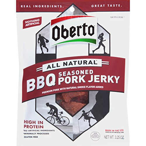 BQ Seasoned Pork Jerky, 3.25 Ounce Bag (Pack Of 4) ()