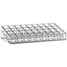 Elisona-Clear Acrylic Makeup Organizer Cosmetic Storage Box for Lip Gloss Lipstick Nail Polish Holder with 36 Storage Compartments