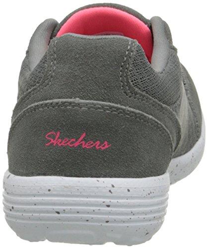 Skechers Deporte en el surco de la manera zapatilla de deporte Grey
