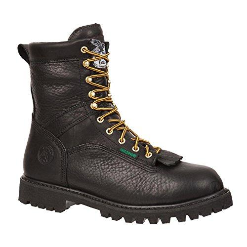 Georgia G8010 Mid Calf Boot, Black, 10 W US Black Logger Lug Sole Boots