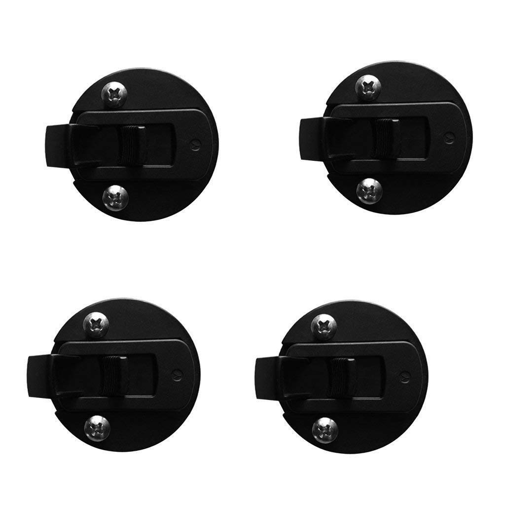 SODIAL Boat 2inch Flush Pull Slam Latch Black Round for RV Boat Marine Deck Hatch 1//2inch Door Cabinet Hardware Pack of 4 PCS