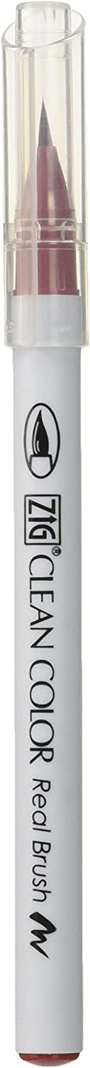 Zig Clean Color Real Brush Marker, Deep Red