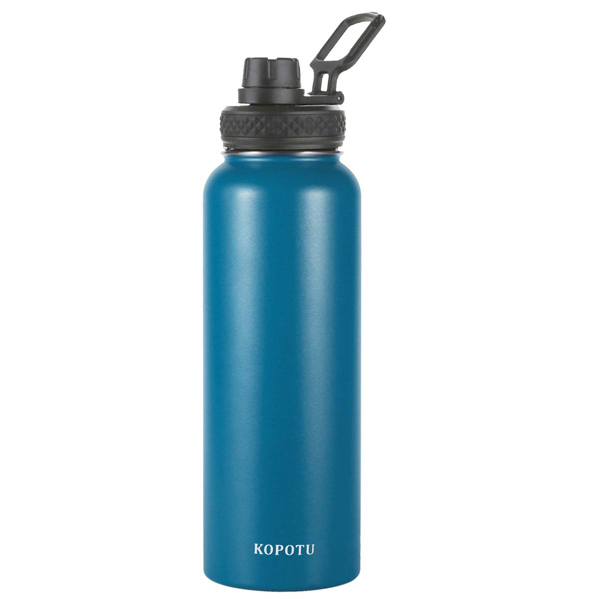 Double Wall, BPA Free, Leak Proof, Sweat Free Wide Mouth Water Bottle with Straw Lid and Spout Lid KOPOTU Stainless Steel Vacuum Flask