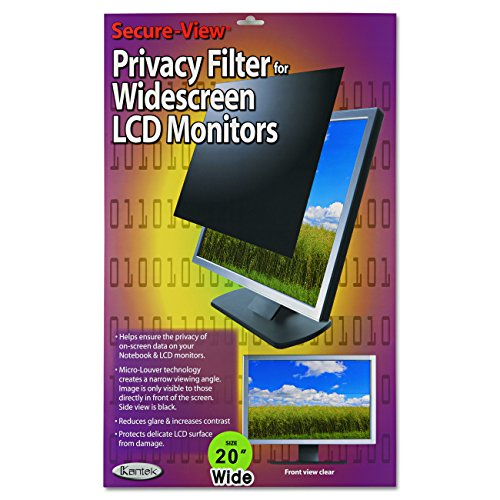 Kantek Secure-View Blackout Privacy Filter fits 20-Inch Widescreen LCD Monitors (Measured Diagonally - 16:10 Aspect Ratio) (SVL20.1W) - 20.1in Privacy Filter Screen