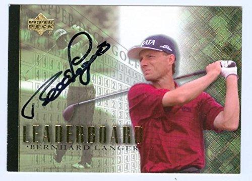 Bernhard Langer autographed Golf trading card 2001 Upper Deck Golf #105 Autographed Golf Cards