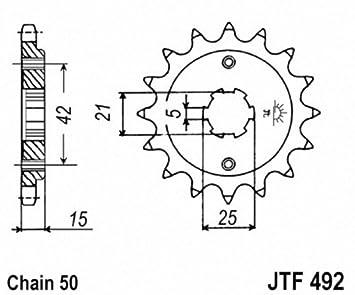 JT Sprockets JTF492.15 15T Steel Front Sprocket