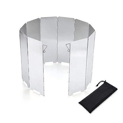 RXRENXIA Estufa Parabrisas, Superlight Portable Plegable Estufa De Camping Parabrisas, Estufa Compacta Alta Windbreak