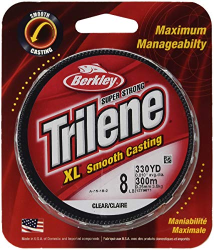 Berkley Trilene XL Smooth Casting Monofilament 300 Yd Spool(6-Pound,Clear)