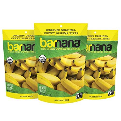 Barnana Organic Chewy Banana Bites, Original, 3.5 Ounce, 3 Count Ripe Bananas