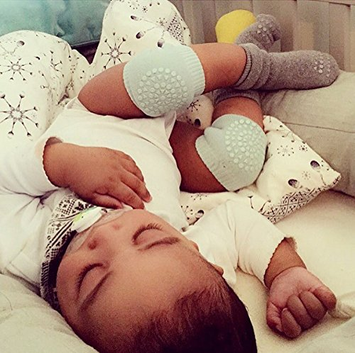 Verde Chiaro Huertuer Baby Crawling Ginocchiere Bambini Ginocchia Protezioni per Bambini Leggings Calze Copertura