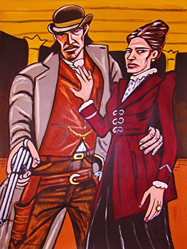 (PENNY DREADFUL ORIGINAL PAINTING-man cave art-eva green josh hartnett showtime tv series gothic horror 19th century)