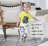 3Pcs Baby Boy Clothes Wild Monster Cartoon Letter
