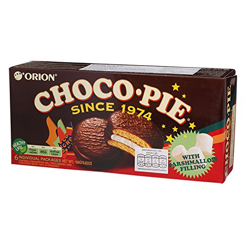 Orion, Choco Pie with Marshmallow Filling, net weight 168 g (Pack of 2 pieces)