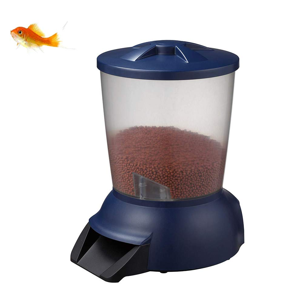 ZNN Automatic Fish Feeder - Large Capacity Automatic Fish Food Dispenser Automatic Timer with LCD Display, Timed Quantitative, Suitable for Aquarium