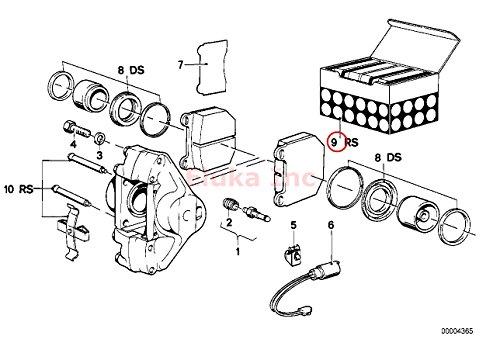 Amazon Com Bmw Brake Pad Set Front E21 320i Automotive