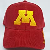 NCAA New Corduroy Minnesota Golden Gophers Embroidered Adjustable Buckle Cap