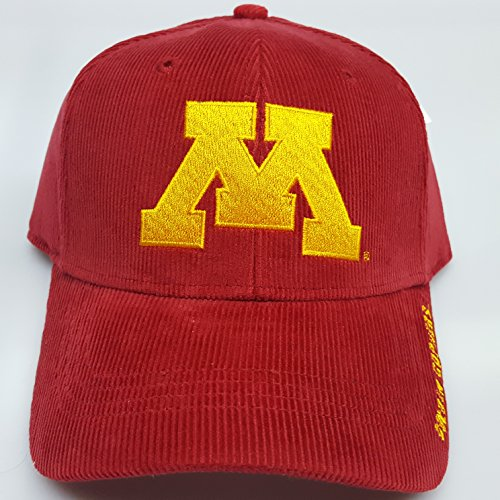 NCAA New Corduroy Minnesota Golden Gophers Embroidered Adjustable Buckle Cap by NCAA