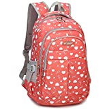 Goldwheat School Backpacks Student Bookbag Casual Shoulder Daypack Travel Back Pack for Teen Girls Boys