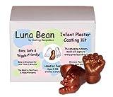 Luna Bean Infant Plaster Statue Casting Keepsake Kit - Cast Baby Hand & Foot (0-9M) (Bronze)
