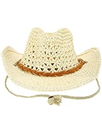Child Cowboy Cowgirl Caps Western Straw Knitted Hats