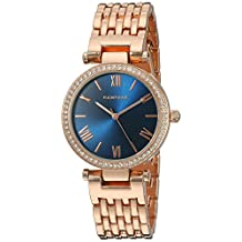 Rampage Women's Quartz Metal and Alloy Watch, Color:Rose Gold-Toned (Model: RP1029RGNV)