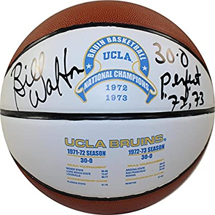 Image of Basketballs NCAA UCLA Bruins Bill Walton Signed UCLA 1972 and 1973 National Basketball with'30-0 72/73 Perfect 'Inscribed