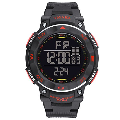 ETbotu Children LED Electronic Digital Luminous Multifunction PU Strap Waterproof Alarm Calendar watches by ETbotu (Image #5)