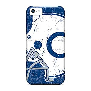 Bumper Hard Phone Case For Iphone 5c With Unique Design Beautiful Indianapolis Colts Pattern EricHowe