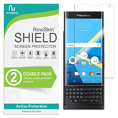- (2-Pack) RinoGear BlackBerry PRIV Screen Protector Case Friendly Screen Protector for BlackBerry PRIV Accessory Full Coverage Clear Film