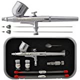 Master Airbrush G222-SET Multi-Purpose Precision Dual-Action Gravity Feed Air...