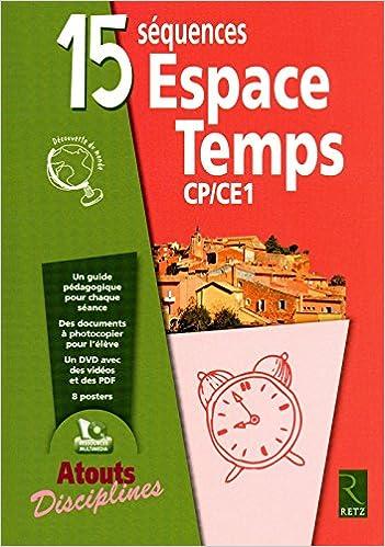 Livres 15 séquences Espace Temps CP CE1 (1Cédérom) pdf, epub ebook