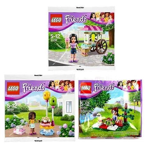 Amazoncom Lego Friends 30106 Emmas Ice Cream Stand 30107